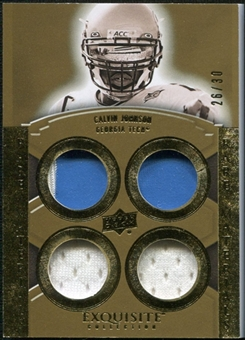 2010 Upper Deck Exquisite Collection Rare Materials #ERMCJ Calvin Johnson /30