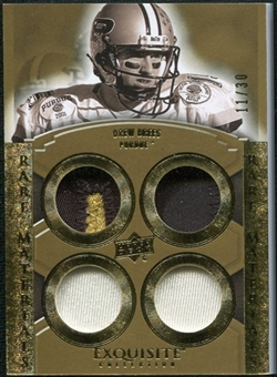 2010 Upper Deck Exquisite Collection Rare Materials #ERMDB Drew Brees /30