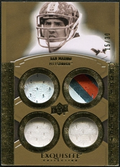 2010 Upper Deck Exquisite Collection Rare Materials #ERMDM Dan Marino 15/30