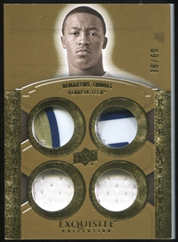 2010 Upper Deck Exquisite Collection Rare Materials #ERMDT Demaryius Thomas 38/60