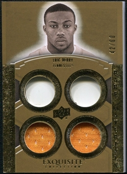 2010 Upper Deck Exquisite Collection Rare Materials #ERMEB Eric Berry /60