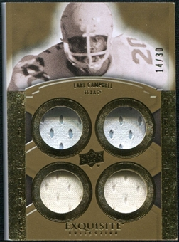 2010 Upper Deck Exquisite Collection Rare Materials #ERMEC Earl Campbell /30