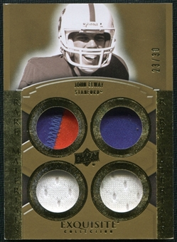 2010 Upper Deck Exquisite Collection Rare Materials #ERMJE John Elway 23/30