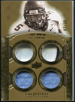 2010 Upper Deck Exquisite Collection Rare Materials #ERMJN Chris Johnson /30