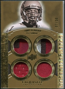 2010 Upper Deck Exquisite Collection Rare Materials #ERMLF Larry Fitzgerald /30
