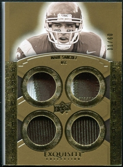 2010 Upper Deck Exquisite Collection Rare Materials #ERMMS Mark Sanchez /60