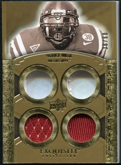 2010 Upper Deck Exquisite Collection Rare Materials #ERMPW Patrick Willis /60