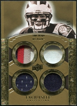 2010 Upper Deck Exquisite Collection Rare Materials #ERMTB Tom Brady /60