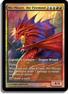 Magic the Gathering Promo Single Niv-Mizzet, the Firemind Foil (Textless)