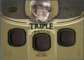 2010 Upper Deck Exquisite Collection Single Player Triple Patch #ETPCP Carson Palmer /50