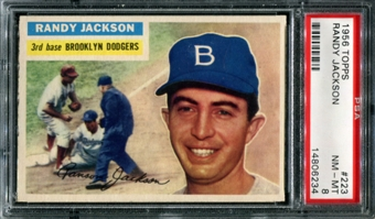 1956 Topps Baseball #223 Randy Jackson PSA 8 (NM-MT) *6234