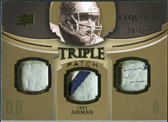 2010 Upper Deck Exquisite Collection Single Player Triple Patch #ETPTA Troy Aikman /50