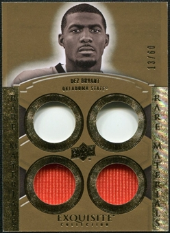 2010 Upper Deck Exquisite Collection Rare Materials #ERMBR Dez Bryant /60