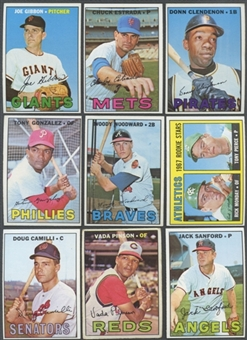1967 Topps Baseball High Number Lot of 35 Cards (31 Different) (EX)