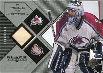 1999/00 Upper Deck Black Diamond A Piece of History #PR Patrick Roy