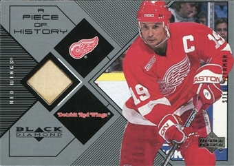 1999/00 Upper Deck Black Diamond A Piece of History #SY Steve Yzerman