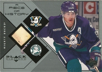 1999/00 Upper Deck Black Diamond A Piece of History #TS Teemu Selanne