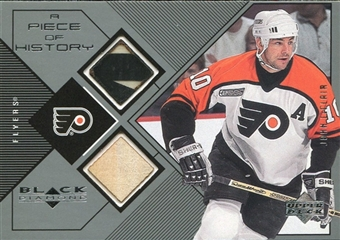 1999/00 Upper Deck Black Diamond A Piece of History Double #JL John LeClair