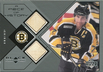 1999/00 Upper Deck Black Diamond A Piece of History Double #RB Ray Bourque