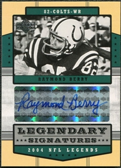 2004 Upper Deck Legends Legendary Signatures #LSBE Raymond Berry Autograph