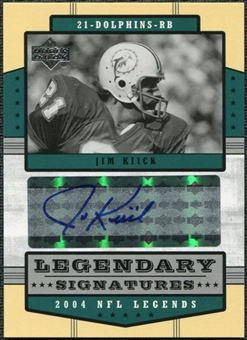 2004 Upper Deck Legends Legendary Signatures #LSKI Jim Kiick Autograph