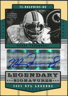 2004 Upper Deck Legends Legendary Signatures #LSMF Manny Fernandez Autograph