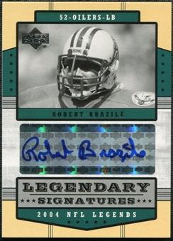 2004 Upper Deck Legends Legendary Signatures #LSRB Robert Brazile Autograph