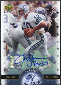 2005 Upper Deck Legends Legendary Signatures #JZ Jim Zorn Autograph