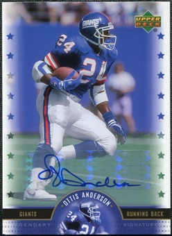 2005 Upper Deck Legends Legendary Signatures #OA Ottis Anderson Autograph