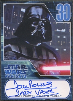 Darth Vader - David Prowse Autographed Star Wars Card (Fan Days I)