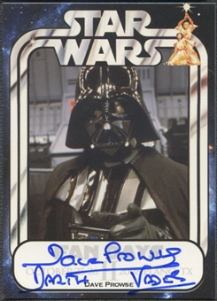 Darth Vader - David Prowse Autographed Star Wars Card (Fan Days II)
