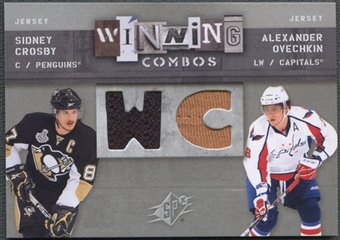 2009/10 SPx #WCCO Sidney Crosby & Alexander Ovechkin Winning Combos Jersey