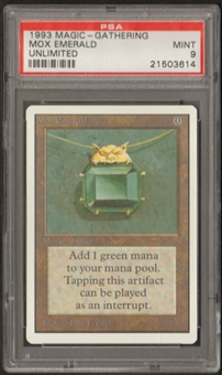 Magic the Gathering Unlimited Single Mox Emerald PSA 9