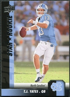 2011 Upper Deck #81 T.J. Yates SP RC