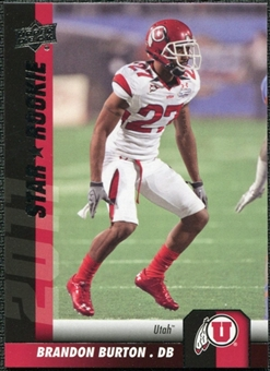 2011 Upper Deck #174 Brandon Burton SP RC