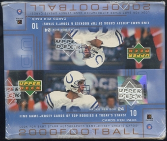 2000 Upper Deck Football Retail 24-Pack Box