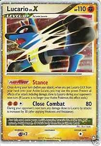 Pokemon Mysterious Treasures Single Lucario lv. X 122/123