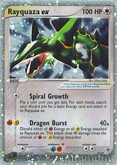 Pokemon Dragon Single Rayquaza ex 97/97