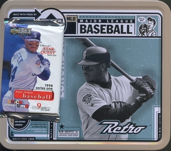 1998 Upper Deck Collector's Choice Series 1 Baseball Retail 25 Pack Lot (In 1999 Retro Tin)