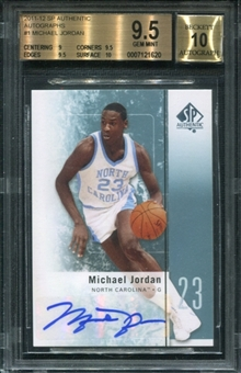 2011/12 SP Authentic Autographs #1 Michael Jordan BGS 9.5 Gem Mint