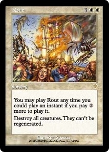 Magic the Gathering Invasion Single Rout - SLIGHT PLAY (SP)
