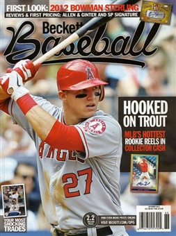 2012 Beckett Baseball Monthly Price Guide (#79 October) (Trout)