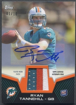 2012 Topps #RAPRT Ryan Tannehill Rookie Patch Auto #01/10