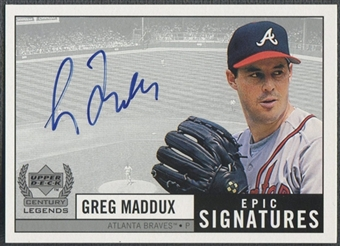 1999 Upper Deck Century Legends #GM Greg Maddux Epic Signatures Auto