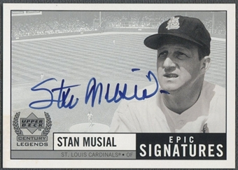 1999 Upper Deck Century Legends #SM Stan Musial Epic Signatures Auto
