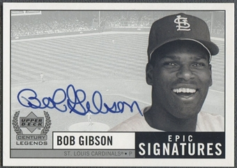 1999 Upper Deck Century Legends #BG Bob Gibson Epic Signatures Auto