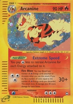 Pokemon Skyridge Single Arcanine H2/H32