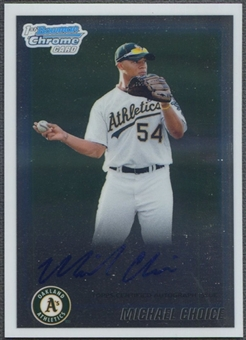 2010 Bowman Chrome Draft Prospect #BDPP61 Michael Choice Auto