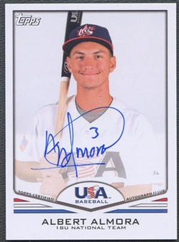 2011 USA Baseball #A43 Albert Almora Auto