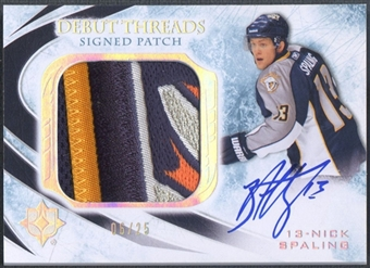 2010/11 Ultimate Collection #SDTNS Nick Spaling Debut Threads Patch Auto #06/25